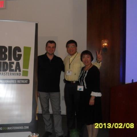 Oliver Gu, Mary Wang and Vick Strizheus at Big Idea Mastermind Millionaires Retreat